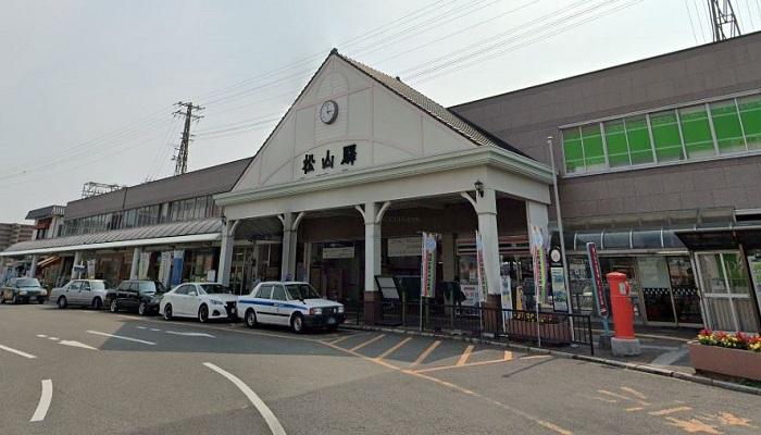 松山駅東口広場