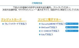 ハニーラインWEB登録支払い方法